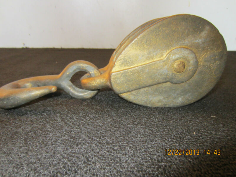 MARITIME, SALVAGED, IRON, BOAT RIGGING PULLEY
