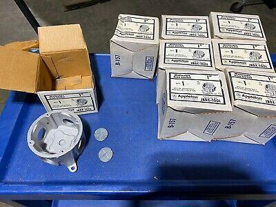 1x Appleton Jbdx-100l Malleable Iron Outlet Box Unilet 4-holes 2-plugs 1 Nos