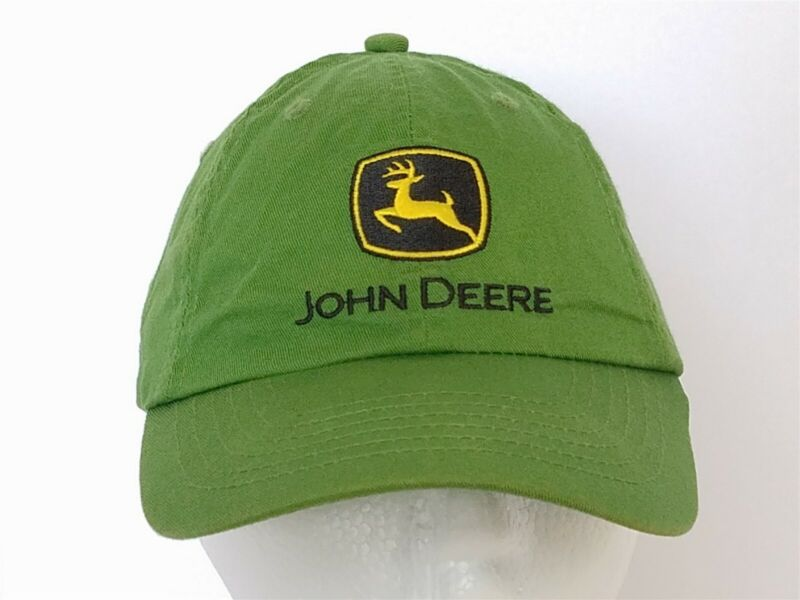 John Deere Green Farm Ball Cap Hat Child Size Adjustable Agriculture Style 4