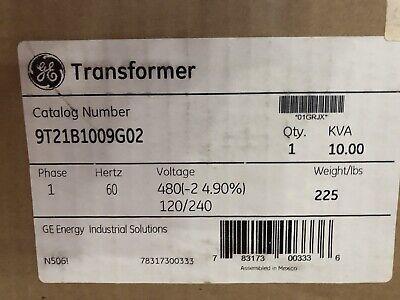 Ge Transformer 10 Kva Pri 480 Volts Sec 120 240 Volts 1 Phase
