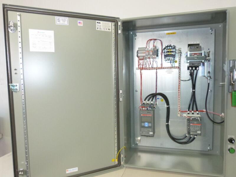 ABB Soft Start 50HP @ 480v N4/12 Enclosure CB Disco, HOA, Start, Timer, CPT NEW
