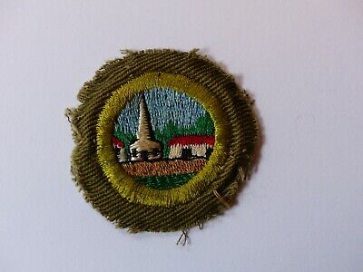 Vintage Boy Scout Round Merit Badge Crimped Patch CITIZENSHIP IN THE (Boy Scout Merit Badge Citizenship In The Community)