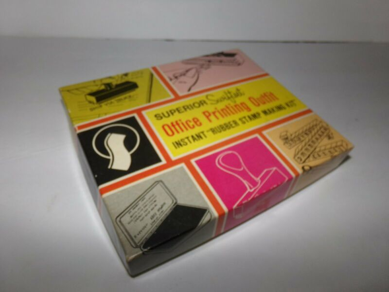Vintage Superior Swiftset Office Rubber Stamp Making Kit with Box & Instructions