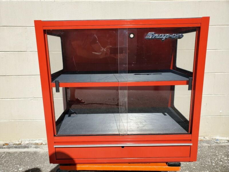 RARE! Snap On Collectible Display Cabinet w/2 Shelves & 1 Drawer SPP 814