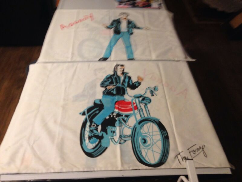 Vintage The Fonz Happy Days Pillowcases. Set Of 2