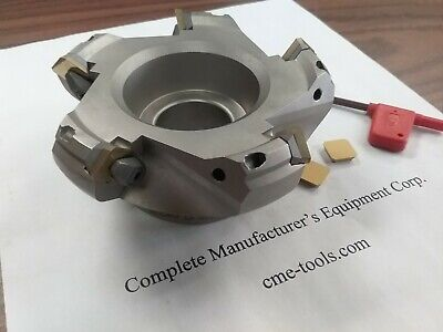 4 45 Degree Indexable Face Shell Mill Face Milling Cutter W.sean42aftn --new