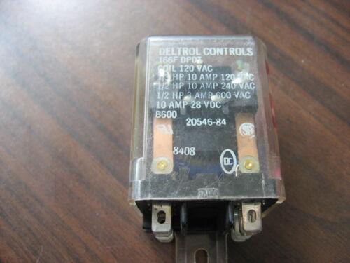 Deltrol Controls 166 DPDT Cube Relay (8 Pin Square, 120 VAC Coil )
