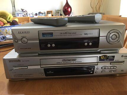 VCR (two units - Samsung & Panasonic)