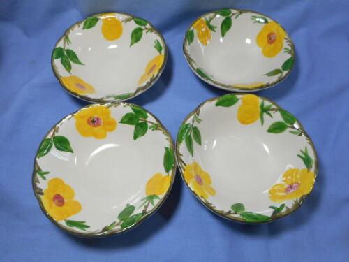 "Franciscan 4 Salad/ Dessert Bowls 6""  Meadow Rose"