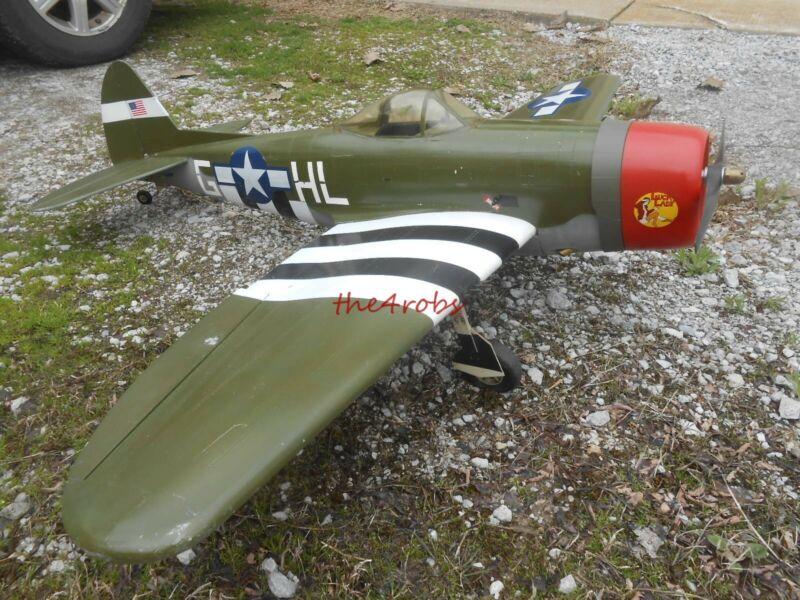 "Large Balsa Wood ? R/C US Army Airplane & Engine 59"" Wingspan"