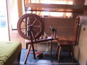 antique spinning wheel with chair Cessnock Cessnock Area Preview