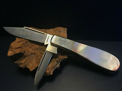 Vtg IXL George Wostenholm Handles Barlow Style Folding Pocket Knife