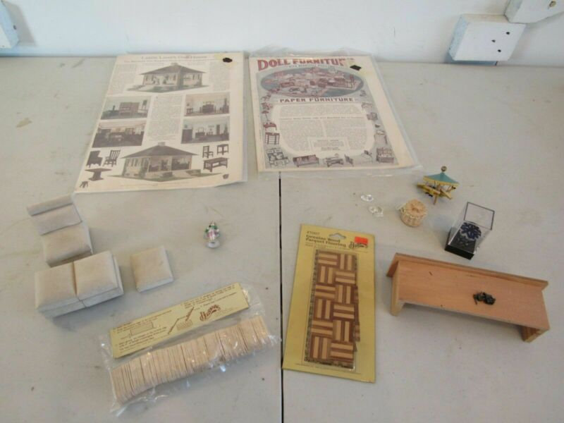 Lettie Lane Doll House Paper Furniture Add Parque Flooring Shingles Accessories