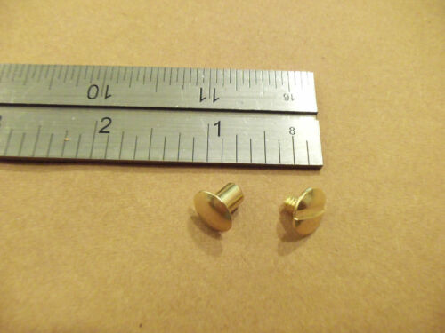 "Chicago Screws 1/4"" 6MM Post Solid Brass Plain Head Binder Posts (25 pack)"