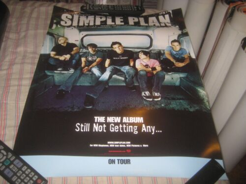 SIMPLE PLAN-(still not getting any)-1 POSTER-2 SIDED-18X24 INCHES-NMINT-RARE!!!
