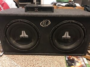 2 - 12 inch subs with amp