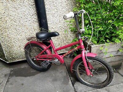 Kids Bike Vintage Bicycle Pink