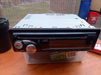 JVC head unit CD player removal face