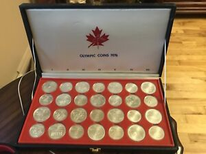 Olympic Games Silver coins 1976 Pièces monnaie collection Argent