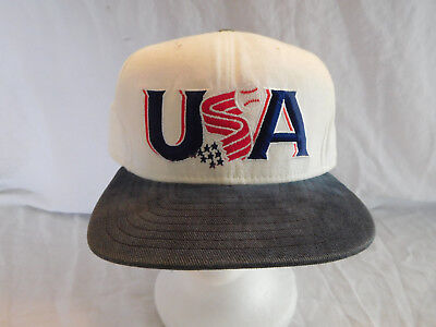 d179f14d05ebf Vintage Team USA Baseball Logo Cap Hat Snapback New Era Made in USA