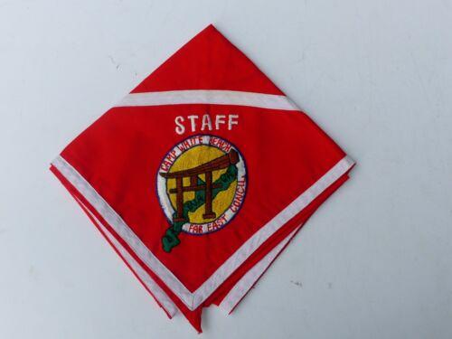 Unused Vintage Far East Council Camp White Beach Boy Scout BSA STAFF Neckerchief