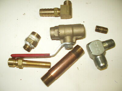 Used Brass Fittings -various Sizes -lot Of 7 Pcs