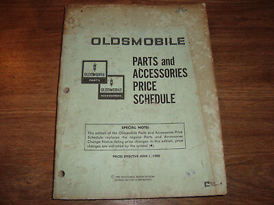 Oldsmobile Parts And Accessories Price Schedule June 1, 1980 CWI