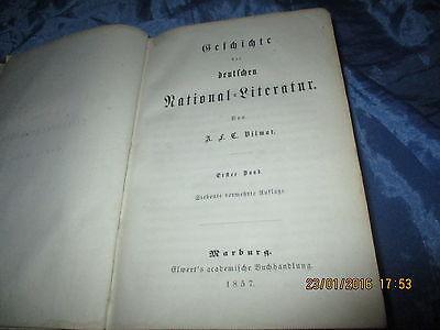 Antik Buch  1857 : Geschichte der deutschen National - Literatur  ( bis 1624 )