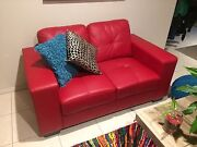 Red leather 2 seater sofa Traralgon Latrobe Valley Preview
