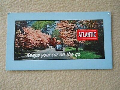Vintage 1950's Atlantic Gasoline Ink Blotter / Advertising / Desk Accessory