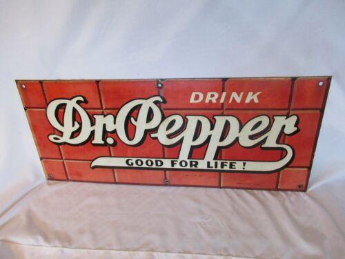 Vintage Original Dr. Pepper Porcelain Brick Sign-McMath-Axilrod Dallas