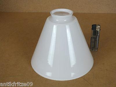 Lampenschirm E14 E27 klassischer Glasschirm im Antik Stil weiß Lampe Wandlampe