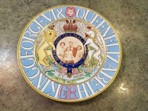 VERY RARE 1939 Queen Elizabeth King George VI Spode Copeland Portrait Plate