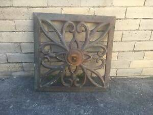 Antique Cast Iron Wall Plaque Northbridge Willoughby Area Preview