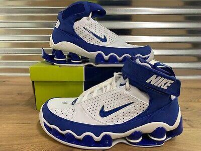 Nike Shox Ups TB Retro '05 Shoes White Royal Blue Silver SZ 11.5 ( 311738-142 )