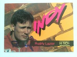 Signed-Trading-Card-Indy-500-Car-Indianapolis-Buddy-Lazier