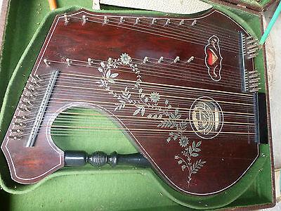 Zither Konzertzither Harfe Neubers Frauenstein Erzgebirge Koffer Instrument