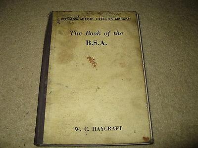 Pitman's MotorCyclists Manual - Book of BSA - Haycraft - Motorcycle Workshop