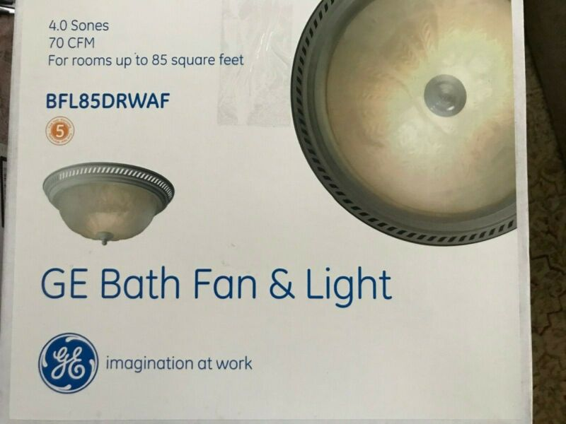 BATHROOM FAN & Light 70 CFM  BFL85DRWAF GE Round Decorative Exhaust Ventilation