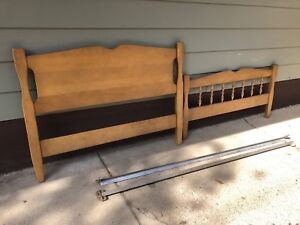 Twin wood bed frame. $30