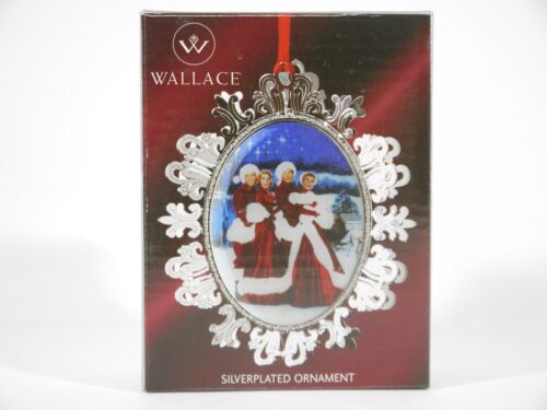 WALLACE WHITE CHRISTMAS SILVERPLATED SNOWFLAKE ORNAMENT BERLIN CROSBY W076263