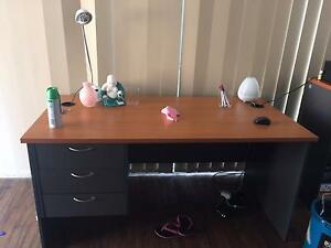 Near new large solid study desk and book case Bellbird Park Ipswich City Preview