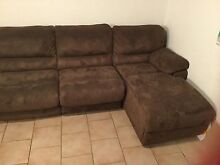Large Brown Corner Sofa with Chaise Lounge Heathridge Joondalup Area Preview