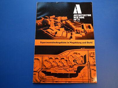 DDR Zeitschrift-Architektur der DDR Heft 10/78-Magdeburg-Suhl-WBS 70-Gorki-top-