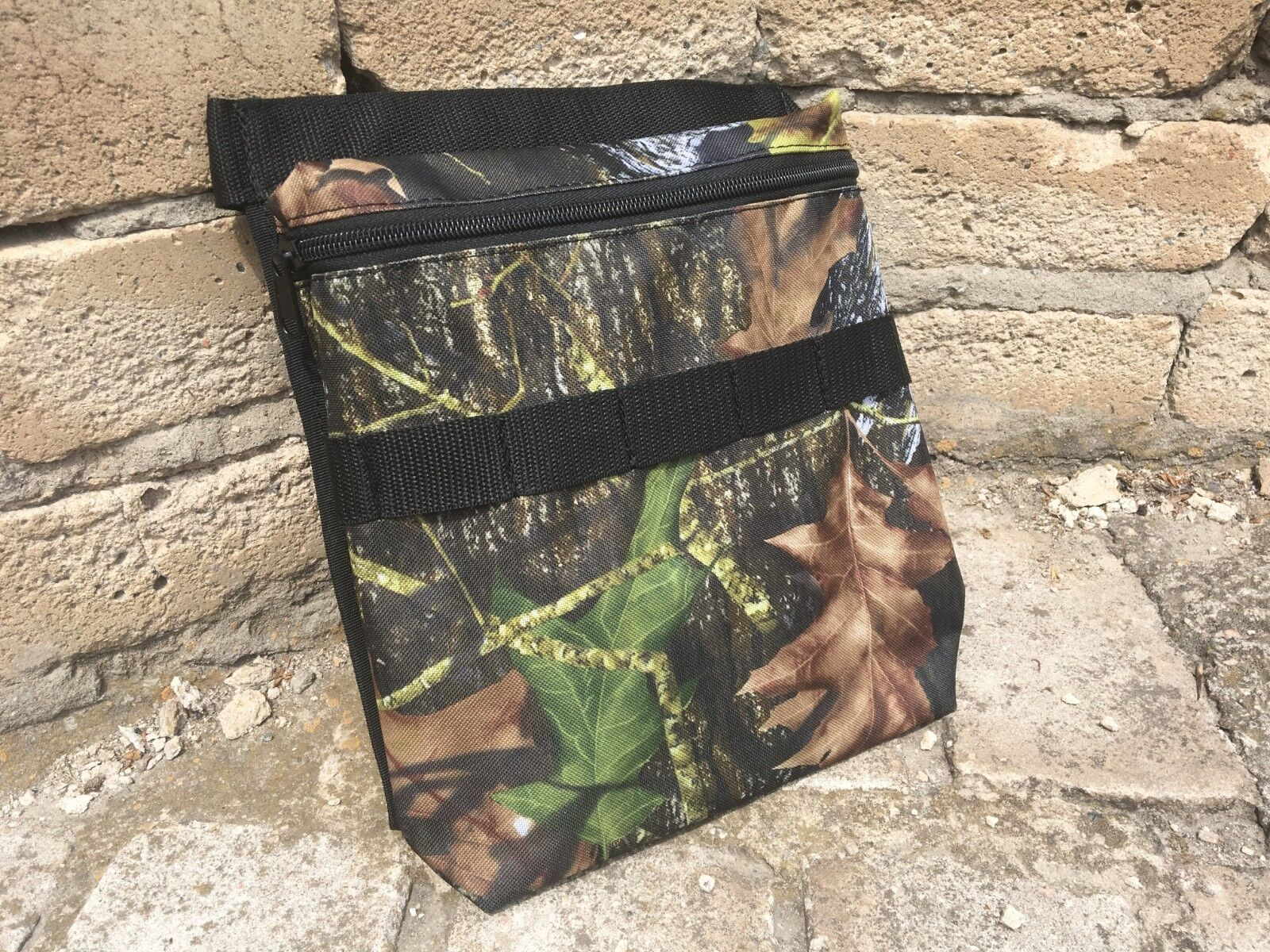 Camo FOREST Metal Detecting Finds Recovery Bag Pouch with Belt Free shipping
