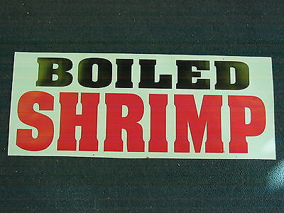 Boiled Shrimp Banner Sign New For Shop Delivery Restaurant Stand Or Cart Fresh