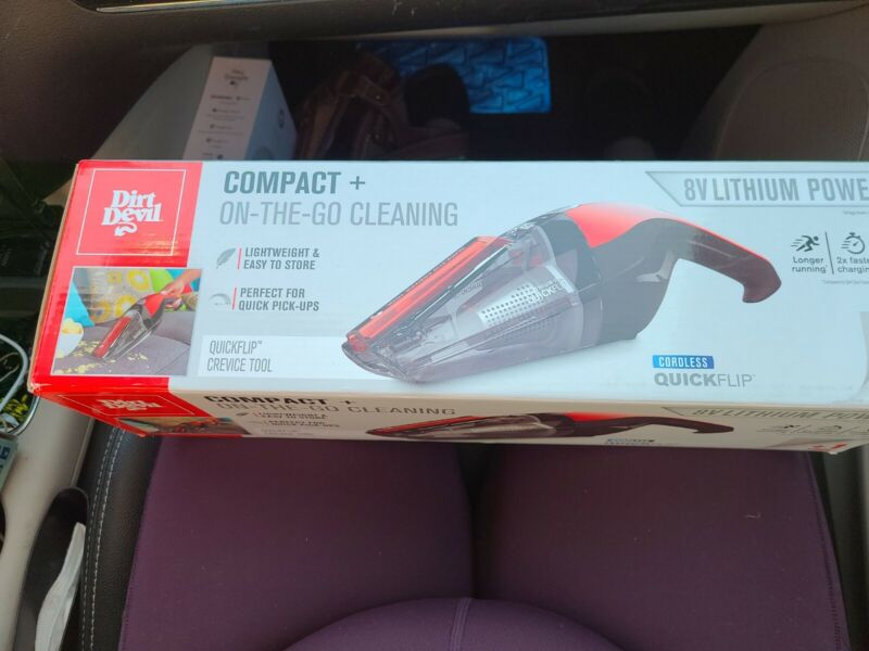 Dirt Devil Compact On the Go Cordless Express Lithium Portable Vacuum Red