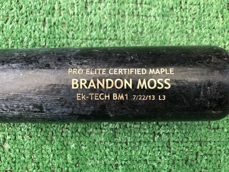 Oakland A's Brandon Moss Game Used Baseball Bat