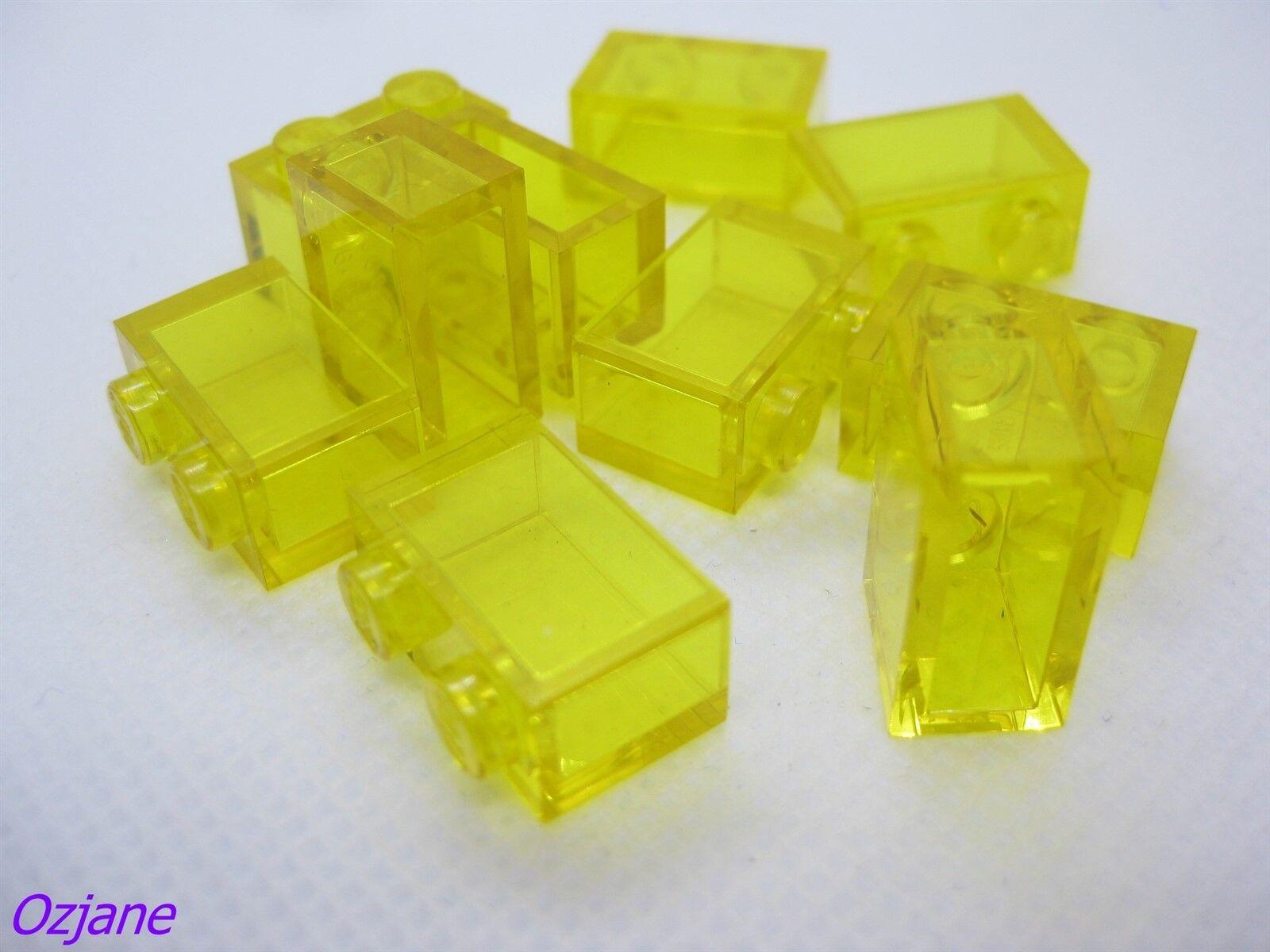 6x brick brick 1x2 2x1 transparent//trans clear 3065 new Lego