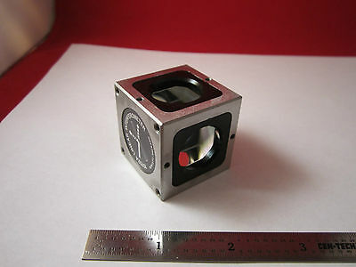 Optical Interferometer Hp 10702a Beam Splitter Cube Laser Optics Bin1